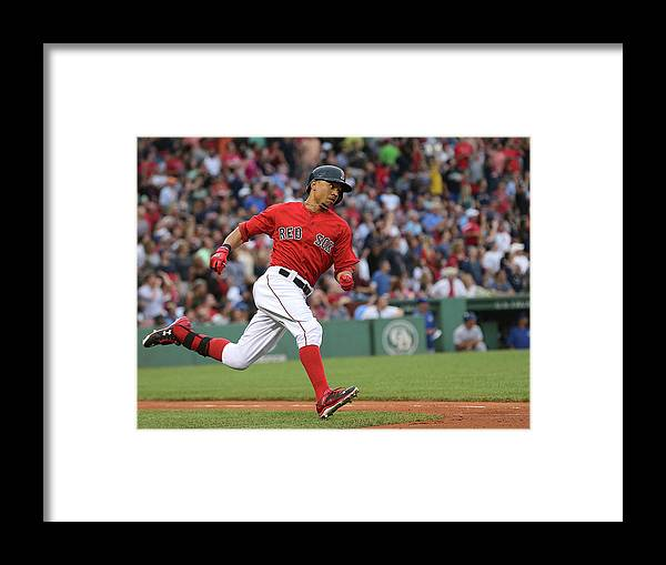 People Framed Print featuring the photograph Mookie Betts by Jim Rogash