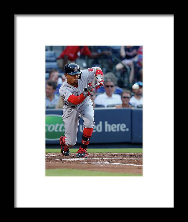 Atlanta Framed Print featuring the photograph Mookie Betts by Mike Zarrilli