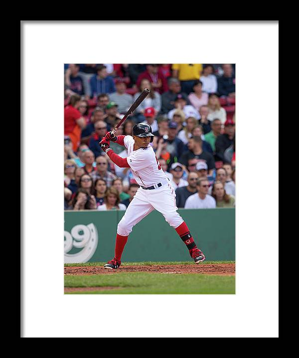 Second Inning Framed Print featuring the photograph Mookie Betts by Rich Gagnon