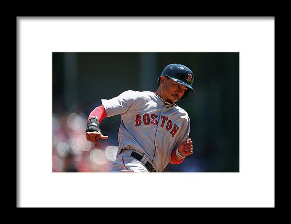 People Framed Print featuring the photograph Mookie Betts by Ronald Martinez