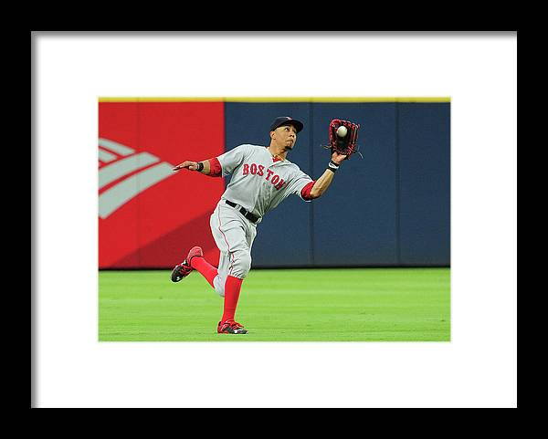 Atlanta Framed Print featuring the photograph Mookie Betts by Scott Cunningham