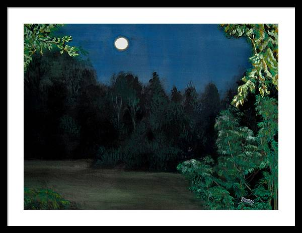 Moon Framed Print featuring the painting Moon Shadow by Susan Moore