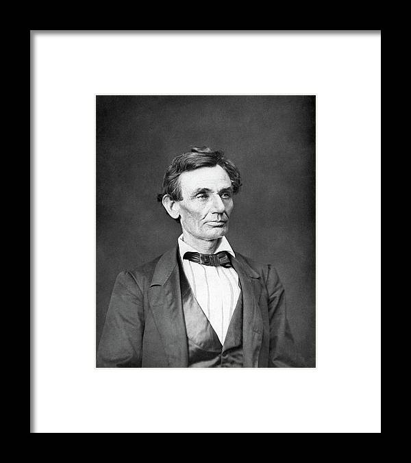 Abraham Lincoln Framed Print featuring the photograph Mr. Lincoln by War Is Hell Store