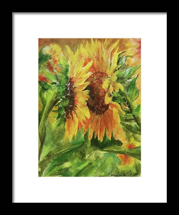 Kissing Framed Print featuring the painting My Sister My Friend by Cheryl Wallace