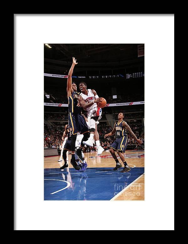Nba Pro Basketball Framed Print featuring the photograph Myles Turner and Reggie Jackson by Brian Sevald