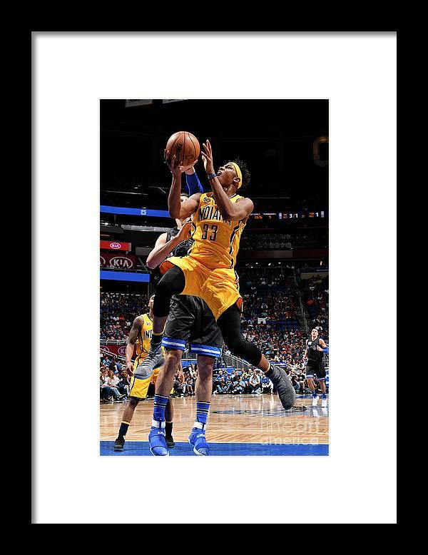 Nba Pro Basketball Framed Print featuring the photograph Myles Turner by Fernando Medina