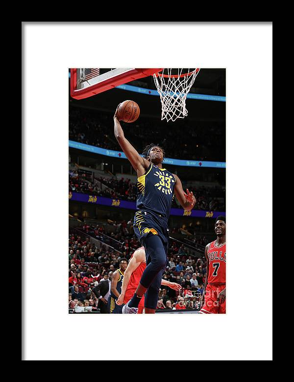Nba Pro Basketball Framed Print featuring the photograph Myles Turner by Gary Dineen