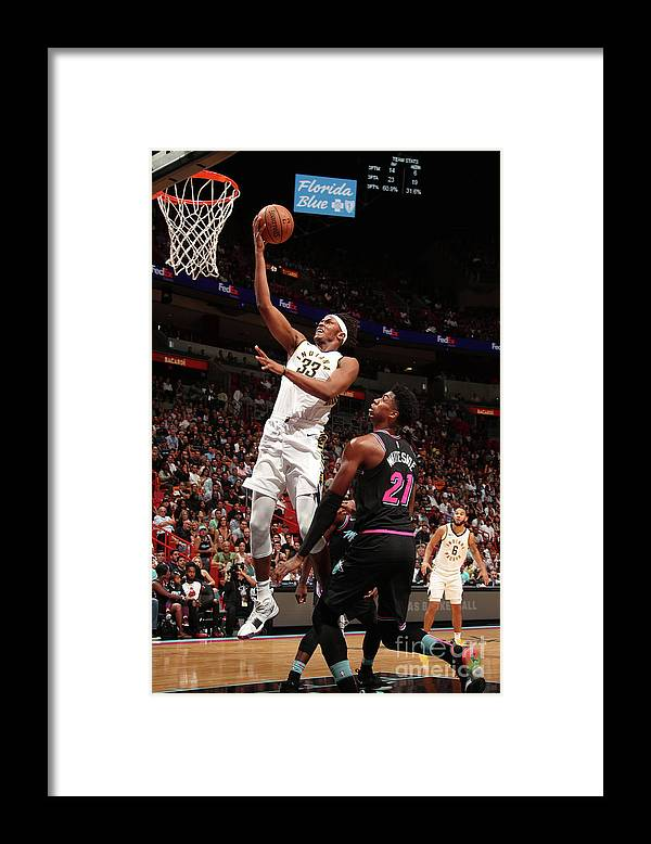 Nba Pro Basketball Framed Print featuring the photograph Myles Turner by Issac Baldizon