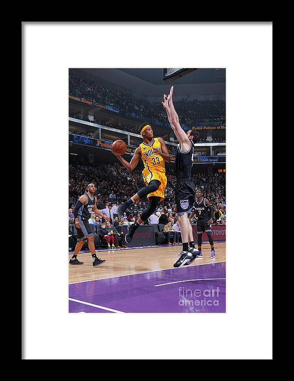 Nba Pro Basketball Framed Print featuring the photograph Myles Turner by Rocky Widner