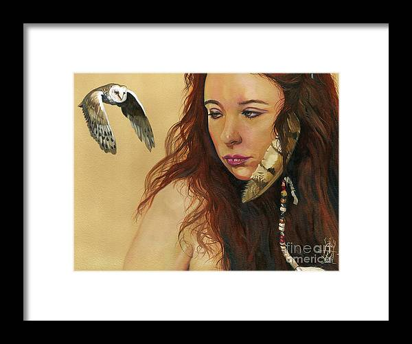 Medicine Woman Framed Print featuring the painting Mystery by J W Baker