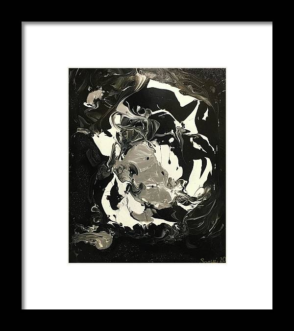 Contemporary Painting Framed Print featuring the painting Mystic Fortune by Sonye Locksmith