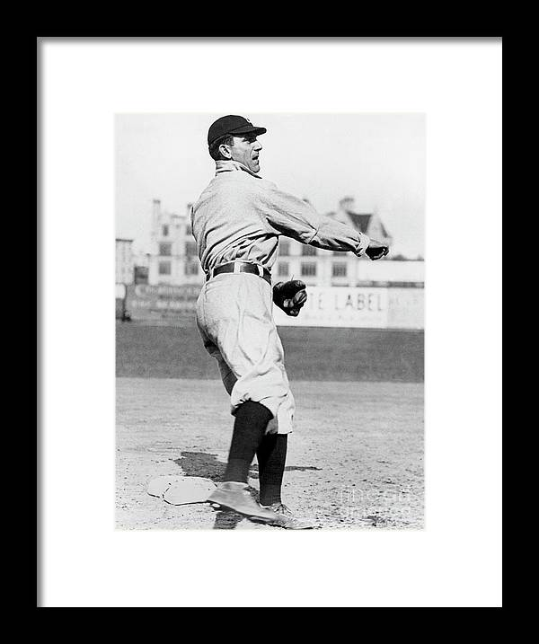 American League Baseball Framed Print featuring the photograph Nap Lajoie by National Baseball Hall Of Fame Library