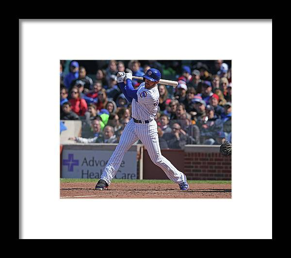 National League Baseball Framed Print featuring the photograph Nate Schierholtz by Jonathan Daniel