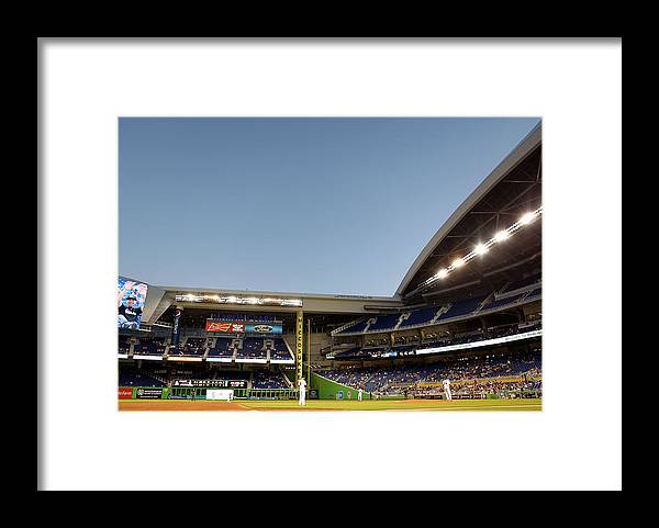 American League Baseball Framed Print featuring the photograph Nathan Eovaldi by Marc Serota