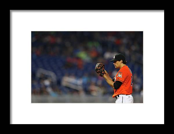 American League Baseball Framed Print featuring the photograph Nathan Eovaldi by Mike Ehrmann