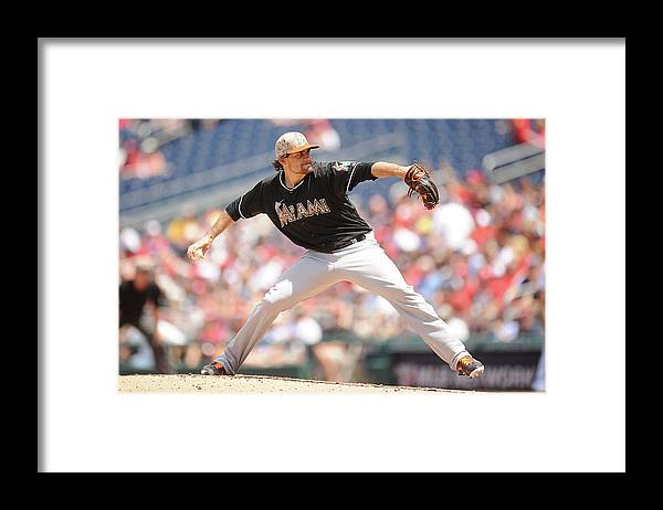 Second Inning Framed Print featuring the photograph Nathan Eovaldi by Mitchell Layton