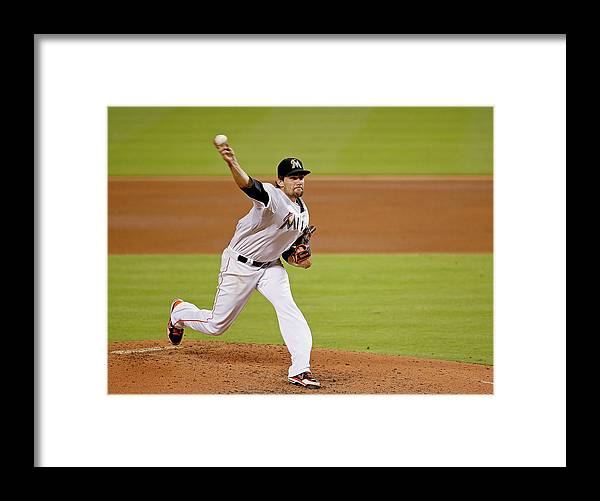 American League Baseball Framed Print featuring the photograph Nathan Eovaldi by Rob Foldy