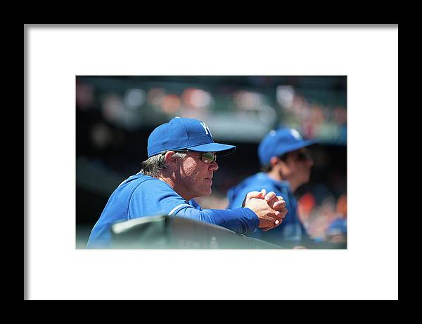 American League Baseball Framed Print featuring the photograph Ned Yost by Rob Tringali