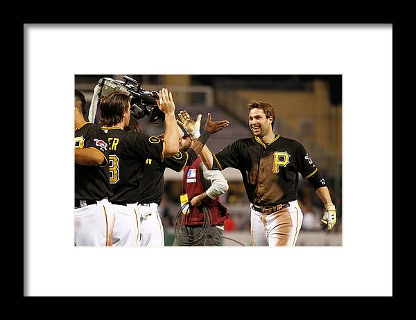 Ninth Inning Framed Print featuring the photograph Neil Walker by Justin K. Aller