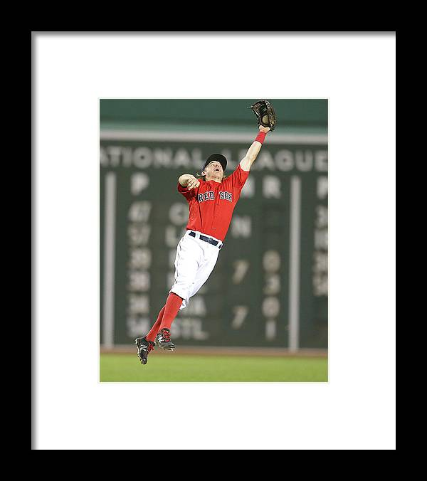 People Framed Print featuring the photograph Nelson Cruz and Brock Holt by Jim Rogash