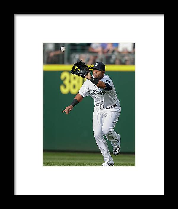 People Framed Print featuring the photograph Nelson Cruz and Mark Canha by Otto Greule Jr