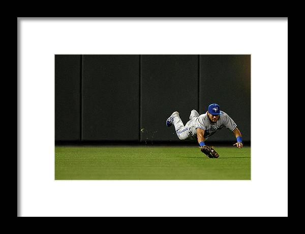 American League Baseball Framed Print featuring the photograph Nelson Cruz and Melky Cabrera by Patrick Smith