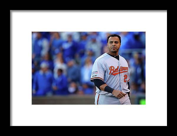 American League Baseball Framed Print featuring the photograph Nelson Cruz by Dilip Vishwanat