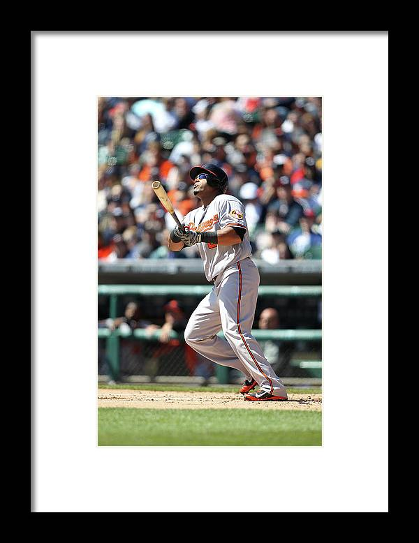 American League Baseball Framed Print featuring the photograph Nelson Cruz by John Grieshop
