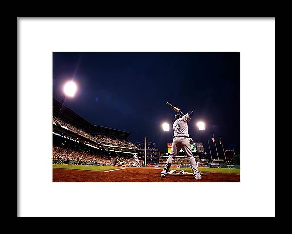 Expertise Framed Print featuring the photograph Nelson Cruz by Justin K. Aller