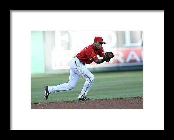 American League Baseball Framed Print featuring the photograph Nelson Cruz by Rick Yeatts