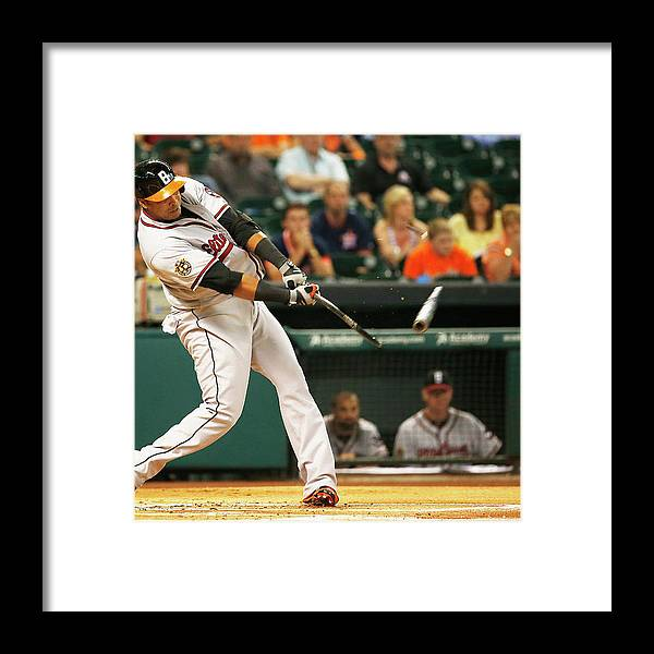 American League Baseball Framed Print featuring the photograph Nelson Cruz by Scott Halleran