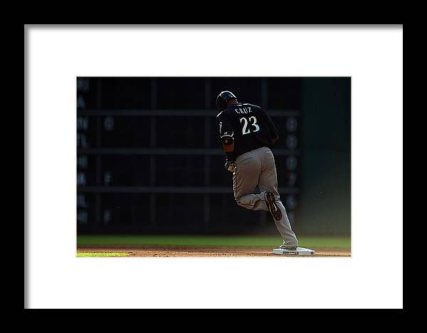 Following Framed Print featuring the photograph Nelson Cruz by Stacy Revere