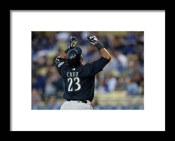 Nelson Cruz Framed Print featuring the photograph Nelson Cruz by Stephen Dunn