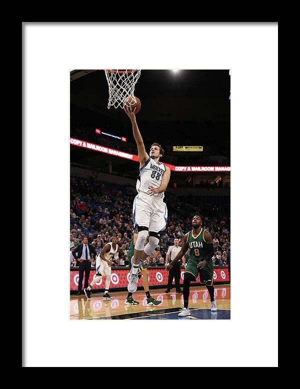 Nba Pro Basketball Framed Print featuring the photograph Nemanja Bjelica by Jordan Johnson