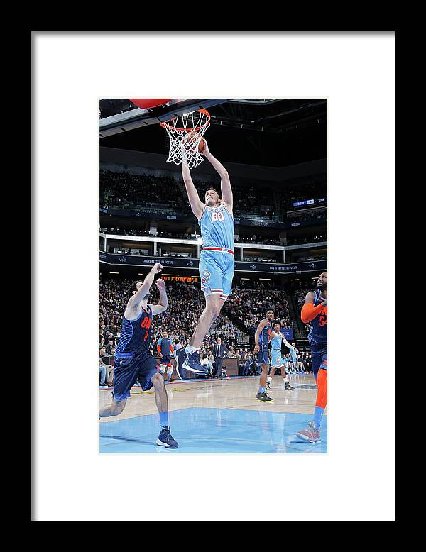 Nba Pro Basketball Framed Print featuring the photograph Nemanja Bjelica by Rocky Widner