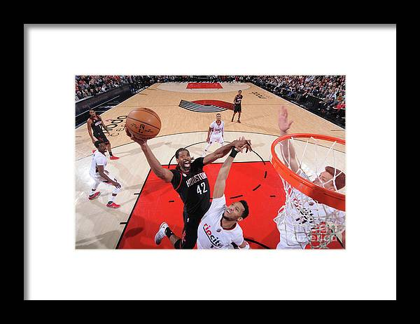 Nba Pro Basketball Framed Print featuring the photograph Nene Hilario by Sam Forencich