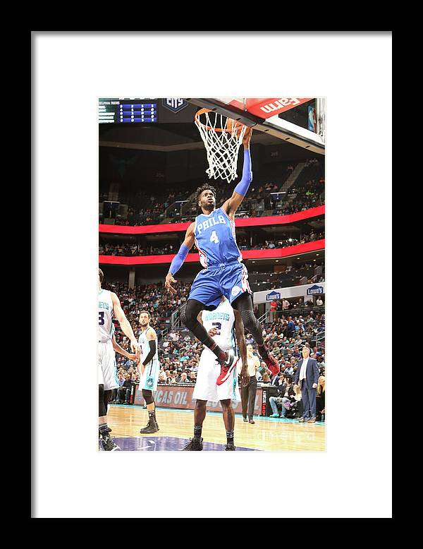 Nba Pro Basketball Framed Print featuring the photograph Nerlens Noel by Brock Williams-smith