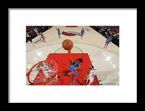 Playoffs Framed Print featuring the photograph Nerlens Noel by Cameron Browne