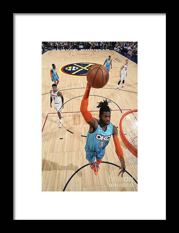 Nba Pro Basketball Framed Print featuring the photograph Nerlens Noel by Garrett Ellwood