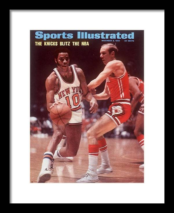 Chicago Bulls Framed Print featuring the photograph New York Knicks Walt Frazier... Sports Illustrated Cover by Sports Illustrated