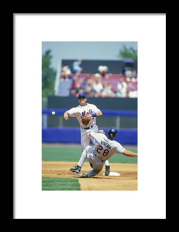National League Baseball Framed Print featuring the photograph New York Mets by Rich Pilling