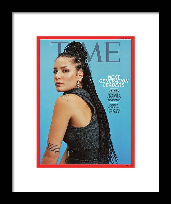 Next Generation Leaders Framed Print featuring the photograph NGL - Halsey by Photograph by Daria Kobayashi Ritch for TIME