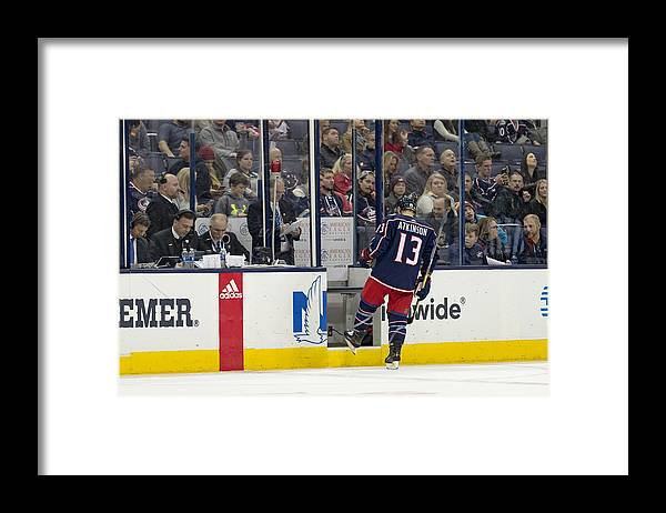 National Hockey League Framed Print featuring the photograph NHL: DEC 01 Ducks at Blue Jackets by Icon Sportswire