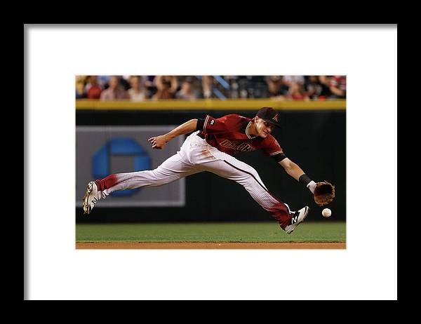 American League Baseball Framed Print featuring the photograph Nick Ahmed by Christian Petersen