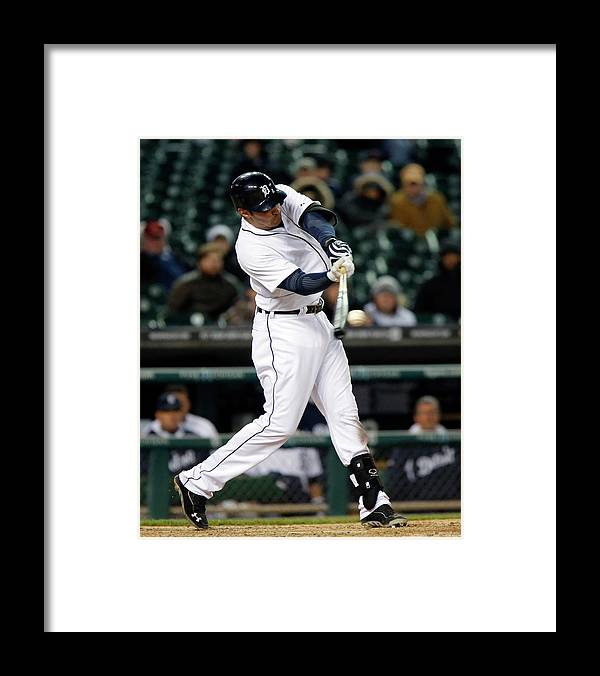 American League Baseball Framed Print featuring the photograph Nick Castellanos by Duane Burleson
