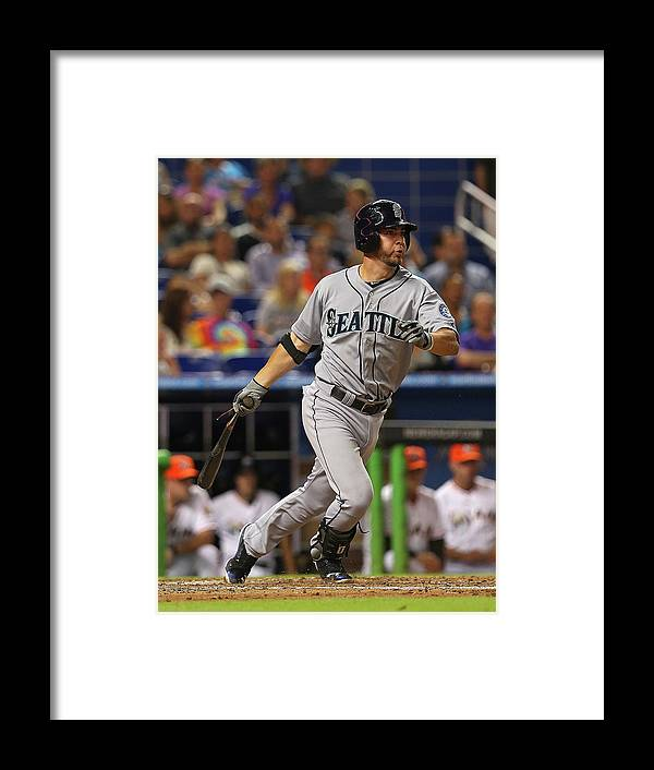 American League Baseball Framed Print featuring the photograph Nick Franklin by Mike Ehrmann