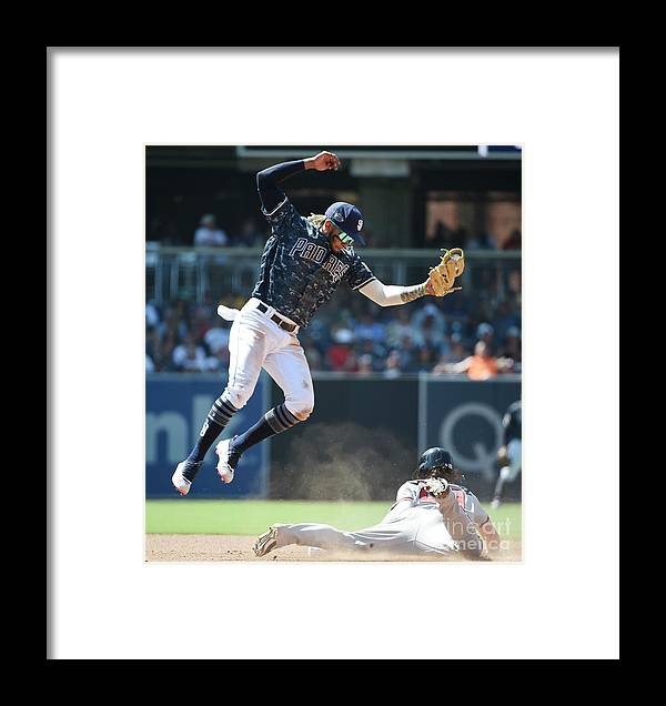 People Framed Print featuring the photograph Nick Markakis by Denis Poroy