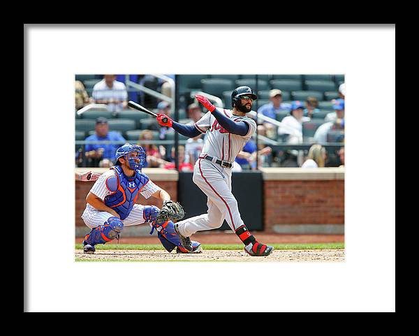 Following Framed Print featuring the photograph Nick Markakis by Jim Mcisaac