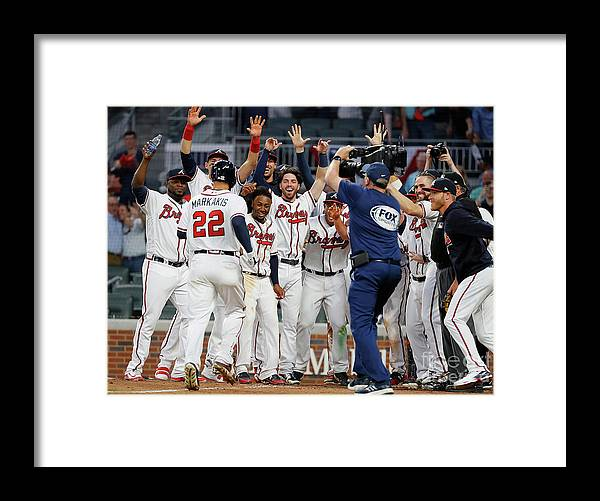 Atlanta Framed Print featuring the photograph Nick Markakis by Kevin C. Cox