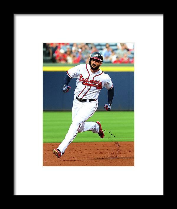 Atlanta Framed Print featuring the photograph Nick Markakis by Scott Cunningham